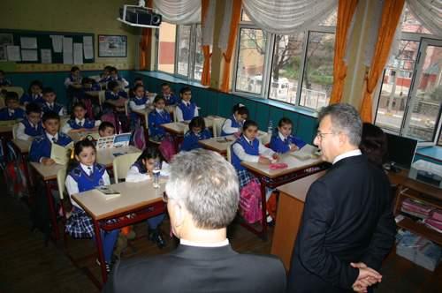 Vali Taşkesen in Okul Ziyareti