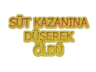SÜT KAZANINA DÜŞEREK ÖLDÜ