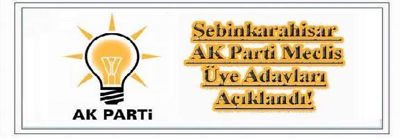 Şebinkarahisar Ak Parti Aday Listesi Açıklandı