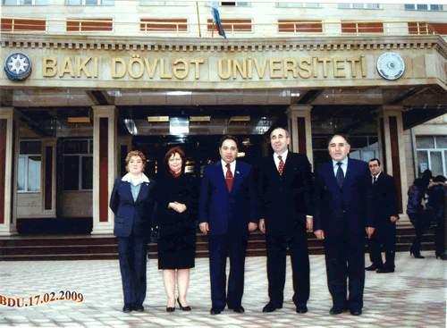 G.Ü. Rektörü Bakü Devlet Üniversitesini Ziyaret Etti