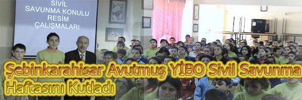 Şebinkarahisar Avutmuş YİBO Sivil Savunma Haftasını Kutladı