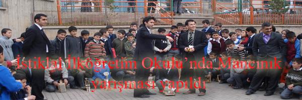 Şebinkarahisar İstiklal İlköğretim Okulunda Mancınık Yarışması Yapıldı
