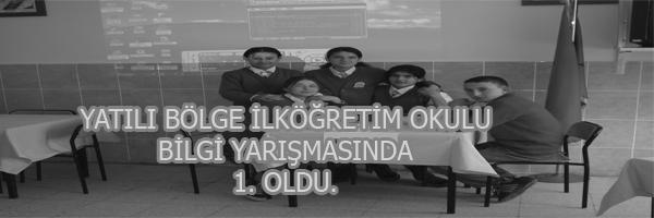 Y.B.İ.O. BİLGİ YARIŞMASINDA 1. OLDU