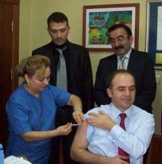 İlimizde Domuz Gribi Aşısı Uygulanmaya Başladı