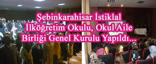 Şebinkarahisar İstiklal İlköğretim Okulu, Okul Aile Birliği Genel Kurulu