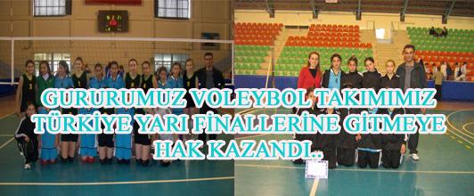 Gururumuz Voleybol Takımımız Türkiye Yarı Finallerine Girmeyi Hak Kazand