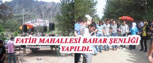FATİH MAHALLESİ BAHAR ŞENLİĞİ YAPILDI..