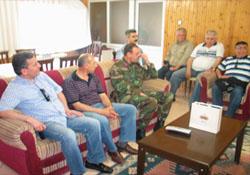 Şebinkarahisarlılar Derneği İlçemizde Garnizon Komutanını Ziyaret Ettile