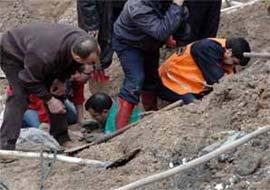 Giresun'da göçük: 1 ölü 4 yaralı