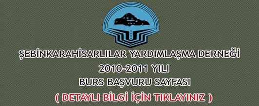 2010 - 2011 Yılı Burs Başvurusu