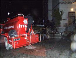 Suşehrin'de korkutan yangın