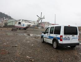 Giresun'da polisin helikopter nöbeti