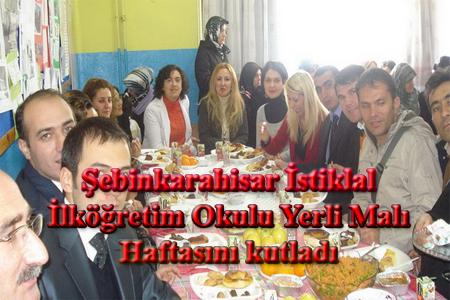 Şebinkarahisar İstiklal İlköğretim Okulu Yerli Malı Haftasını kutladı.
