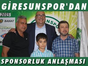 GİRESUNSPOR'DAN SPONSORLUK ANLAŞMASI