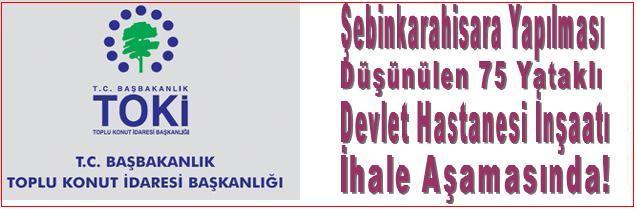 DEVLET HASTANESİ İHALE AŞMASINDA!
