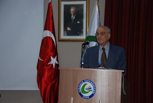 Prof.Dr. Mümtaz Soysal Giresun Üniversitesindeydi