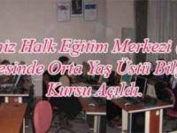 İlçemiz Halk Eğitim Merkezi (HEM) bünyesinde orta yaş üstü Bilgisayar ku