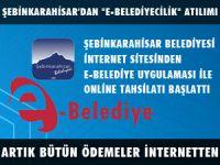 """ŞEBİNKARAHİSAR'DA """"E-BELEDİYECİLİK"""" UYGULAMASI"""