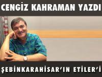 """CENGİZ KAHRAMAN YAZDI """"ŞEBİNKARAHİSAR'IN ETİLER'İ"""""""