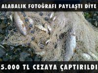 ALABALIK FOTOĞRAFI PAYLAŞTI 5 BİN LİRA CEZAYA ÇAPTIRILDI