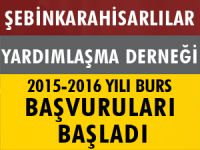 ŞEBİNKARAHİSARLILAR YARDIMLAŞMA DERNEĞİ 2015-2016 YILI BURS BAŞVURULARI BAŞLADI